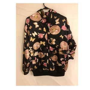 Other - Satin butterfly bomber jacket